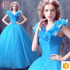 Royal Blue Special Occasion Party Gowns Princess Style Real Sample Ball Gown Evening Dress blue us 4