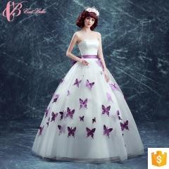 White Appliqued Butterfly Alibaba Shenzhen Evening Dress purple us 4