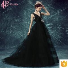 party wear for girls supplier Cinderella evening dress black us 4