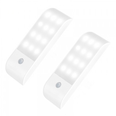 Rechargeable Motion Sensor Auto On/Off Night Light for Hallway, Bathroom, Bedroom, Kitchen white normal normal