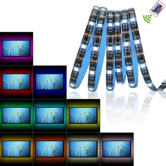 USB RGB LED Strip Lights 3 Cuttable Flexible Tape Light Remote Controller TV Back Lighting Computer normal normal normal
