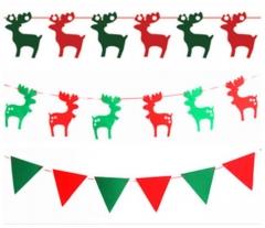 Christmas Decoration Pine Tree Socks Deer Shape Soft Bubble Material Hanging on the Wall Christmas pine tree normal
