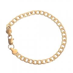 Women Bracelets Fashion Gold Plated Bracelet Jewellery Wristband With Stainless Steel Bracelets gold normal size