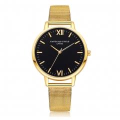 Fashion Lady Watches Quatz Bracelet Men Women Big Dial Watch Business Gold Normal