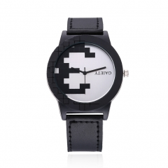 Cestbella Leather Band Watches Contradicted Men Women Watch Mechanical Watch Black Normal