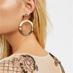 Cestbella Fashion Shining Big Jewellery Earrings Exquisite Modern Studs Ideal Christmas Gift Gold Normal