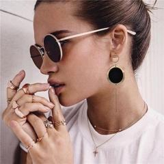 Cestbella Elegant Earrings Statement Earring Jewelry Fashion Stud for Women Black Normal