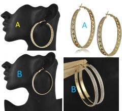 Cesbella Cheap Shining Crystal Golden Jewelry Earrings For Women Vintage Jewellery Gold  Earring golden shape a
