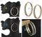 Cesbella Cheap Shining Crystal Golden Jewelry Earrings For Women Vintage Jewellery Gold  Earring golden shape c