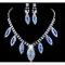 Fashion Galaxy Jewelry Necklace Shining Stone Wedding Ceremony Party Jewellery Set Royal Blue normal size