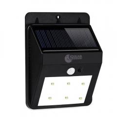 BuyInHouse Wall Bright Motion Sensor Weatherproof Wireless Security Outdoor 6 LED Light