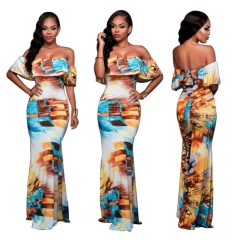 Hot Women Fashion Casual Sexy Dress   Party Dress printing s