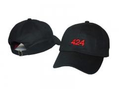 424 cap Baseball Snapback Cap Hat Cotton Adjustable balck