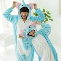 Unisex Adult Pajamas Sleepsuit Costume Cosplay Lounge Wear Kigurumi Onesie Sleepwear Pyjamas blue s