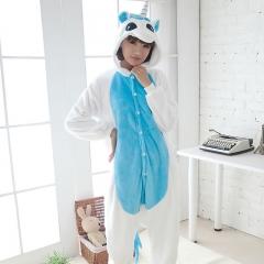 Unisex Adult Pajamas Sleepsuit Costume Cosplay Lounge Wear Kigurumi Onesie Sleepwear Pyjama blue s