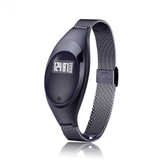 Smart Bracelet Oxygen Heart Rate SNS Reminder Pedometer Sport Smart Wristband Woman Android IOS black 1