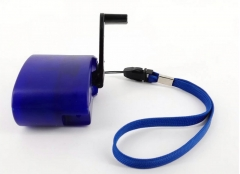 Manual generator, hand charger, mobile emergency charger, USB charger blue 1