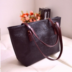 Oracle Shoulder Embossing Handbag Top Handle Big XCHF3 black 1