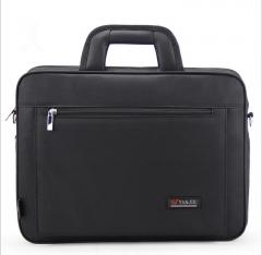 Oxford Briefcase Laptop Business Bags Male Handbag Shoulder Diagonal Cross-Large File Package black 16inch