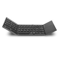 Folding Bluetooth keyboard, BT wireless mini keyboard with touchpad tablet Samsung or other phone