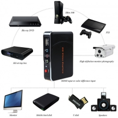 HD video capture 1080P HDMI / YPBPR recorder for Xbox 360 and One / PS3 PS4 - HDMI through HD game black 12