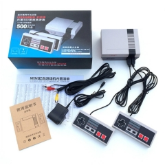 Mini version of the home game machine video game console 8 host built-in 500 classic games Gray