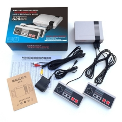 Mini Red White Machine  The Family Game Machine Video Game Console 8 Host Built-in 620 Classic Game Gray 24*16*8