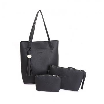 Joyism 3 Colors Classic Fashion Women  Shoulder Handbag. Vintga Crossbody Bags Black/Grey/Pink black f