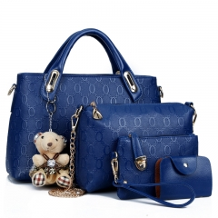 Joyism 6 colors Classic Fashion Women Luxury Handbag PU Leather Genuine Bags blue f