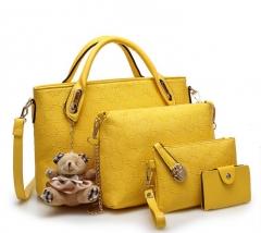 Joyism 6 colors Classic Fashion Women Luxury Handbag PU Leather Genuine Bags yellow f