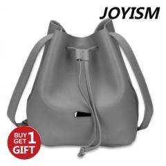 Joyism Strap Dual Purposes Shoulder Crossbody Bucket Bag gray f