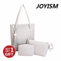 Joyism 3 Colors Classic Fashion Women  Shoulder Handbag. Vintga Crossbody Bags Black/Grey/Pink Gray f