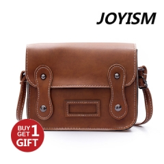 Joyism 6  colors Classic Fashion Women Handbag PU Leather  cambridge satchel Reddish brown f