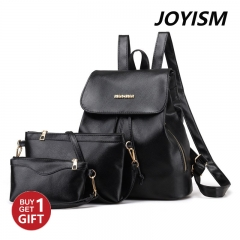Joyism New Fashion Women  PU leather  Handbag Tote Portable Backpack black f