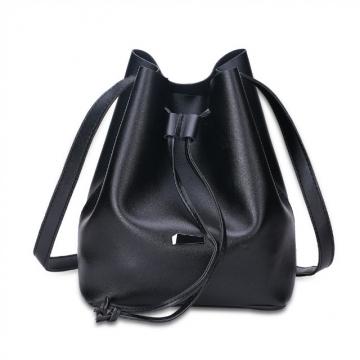 Joyism Strap Dual Purposes Shoulder Crossbody Bucket Bag black f