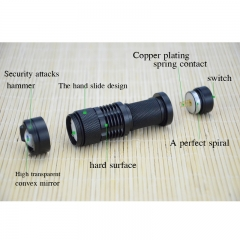 LED Flashlight Mini Zoom Tourch Led 7W CREE 2000LM Waterproof 3 Modes Zoomable Torch Flashlights black one size