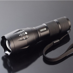E17 XM-L T6 3800LM Aluminum Waterproof Zoomable CREE LED Flashlight Torch light black one size