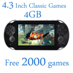 4.3 inch 4GB portable game player handheld game console camera video music