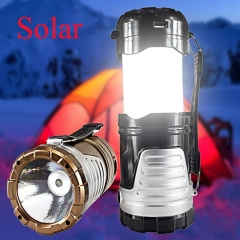Solar Camping Lantern Tent Lights Outdoor Camping Rechargeable Camping Light black one size