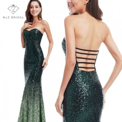 N&Z 2017 SEXY Sparkle Women Mermaid Sweetheart Strapless TS17700101 Prom Dress GREEN 6