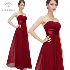 Red Strapless Sweetheart Full Length Aline Evening Dress red 4