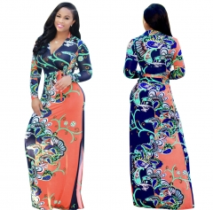 Sexy super hot digital print fashion style big skirt dress D1128 L