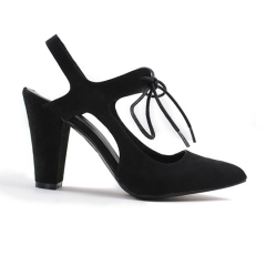 Black suede shoes High-heeled Breathable  Women  shoes black 37