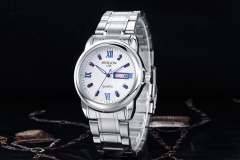 FEDYLON Luxury Men Full Stainless Steel Casual Quartz Watch Men Fashion blue one size