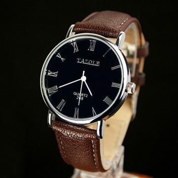 Wrist Watch Men Watches 2016 Top Brand Luxury Famous Wristwatch Male Clock Quartz Watch black brown 38 mm