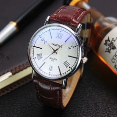 2017 Brand HongC Watch Men Roman Classic Boutique Business Watches Men Watch Blu-ray white watch dial black watchband