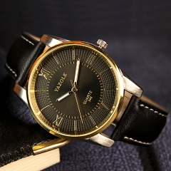 2017 Men Watch Top Brand Luxury Famous Wristwatch Male Clock Quartz Watch Wrist Men Quartz watch Black dial Black strap