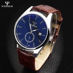 HongC Wristwatch Calendar Wrist Watch Men 2017 Top Brand Luxury Famous Quartz Watch black dial black strap