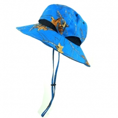 Boonie Hat Outdoor UV Protection 50+ Sun Hat Sportswear for Sports fishing Outdoor Activties Blue