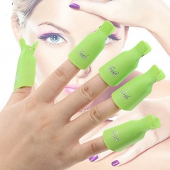 Nail Art Soak Off Polish UV Gel Remover Clip Wrap Nail Tool 10PCs green easy